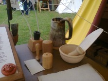 A closer look at what a medieval scribe worked with. This image comes from Part 1 of my Medieval Weekend review which was up on Chandler's Ford Today last Friday.