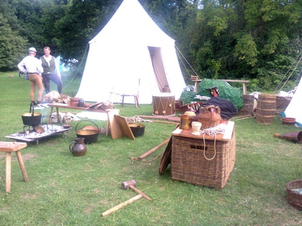 Part of a Medieval Village re-enactment