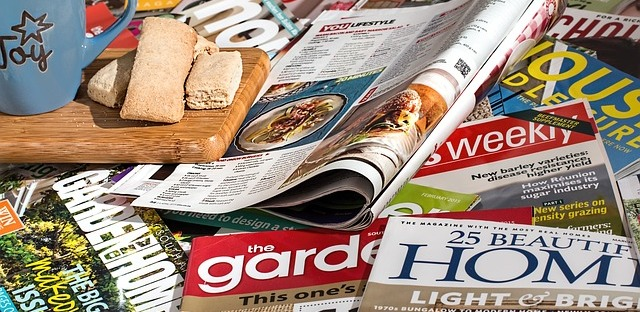 Magazines are a wonderful read. I like the writing mags and some history ones. Image via Pixabay.