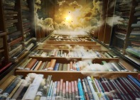 Heavenly books. Image via Pixabay