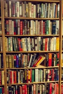 The joy of books. Image via Pixabay.