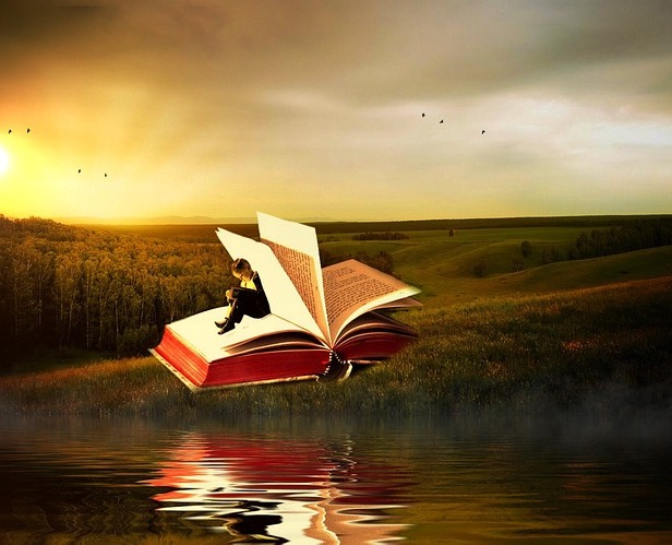 One of the best ways to escape is with a good book. Image via Pixabay.