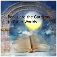 Books are the gateway to other worlds. Image via Pixabay.