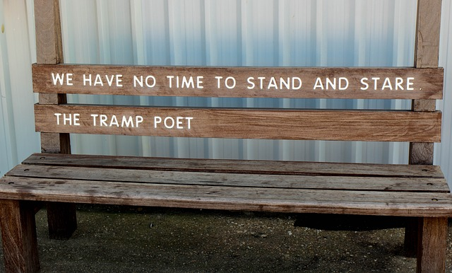 Poets stand and stare and then write down. Image via Pixabay.
