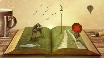 What world will you enter when you next read a good story? Image via Pixabay.