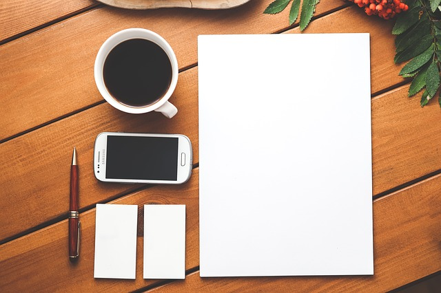 Where all stories start, regardless of technology - the blank page. Image via Pixabay.