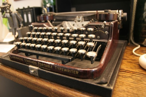 Where stories used to start - P.G. Wodehouse and Agatha Christie, two of my favourite authors, must have produced billions of words between them on typewriters. Image via Pixabay.