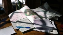 Writing the first drafts! Image via Pixabay.