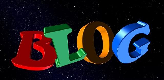Blogging - a hugely enjoyable part of what I write. Image vix Pixabay.