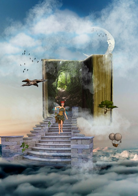 All books are gateways to other worlds, fantasy and science fiction especially I think. Image via Pixabay.