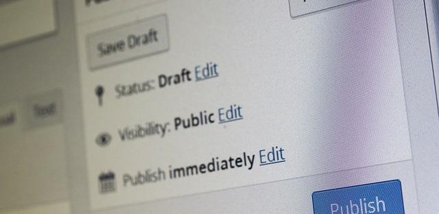 One joy of blogging is the ease of publication... Image via Pixabay