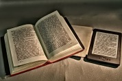 Two formats for reading and Chandler's Ford library stocks both. Image via Pixabay.
