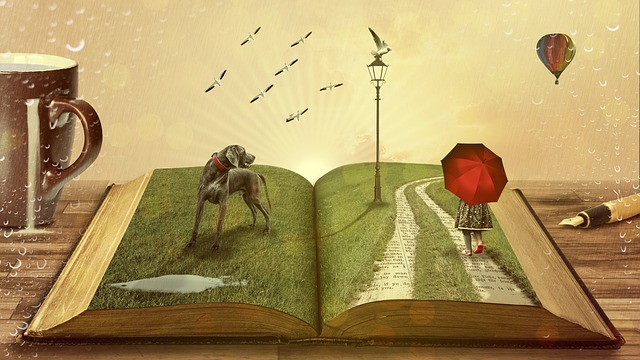 Open a book, open a gateway into another world. Image via Pixabay.