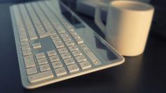 After a swim, I'm soon back at the keyboard. Image via Pixabay.