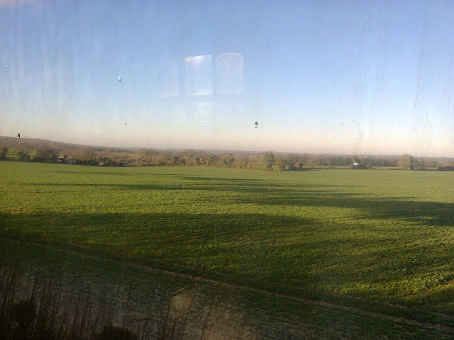 Lovely Hampshire countryside, image taken by me from a local stream train