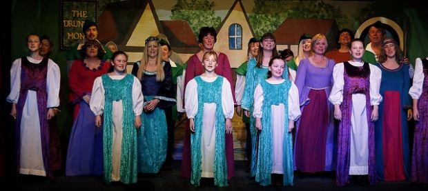 The chorus from the Chameleons Theatre Company and their Robin Hood panto. I review this in tomorrow's Chandler's Ford Today post. Many thanks to the Chameleons for this image and the ones in the CFT post.