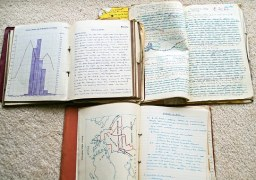 Personal history can often be found in things like old exercise books, which in turn reveal things about political history and how much people knew at the time. Image via Pixabay.