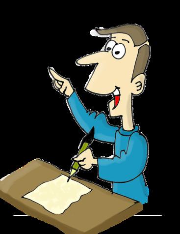 Writer at work. Image via Pixabay.