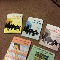 Books I've appeared in or written and published by Bridge House, Cafelit and Chapeltown. Image by Allison Symes