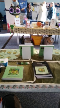 View from behind my stand at the recent Chandler's Ford Book Fair. Image by Allison Symes