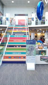 What a set of stairs! Inside the Discovery Centre. Image by Allison Symes