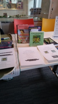 My book stand. Image by Allison Symes