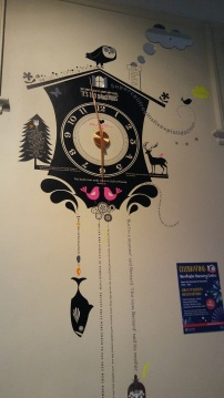 The beautiful clock decoration in the Discovery Centre. Wonderful quotes stream from it. Image by Allison Symes. (And doesn't time just fly when you're enjoying a good read?)