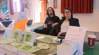Flash Fiction Corner: Damon Wakes and Allison Symes at the Chandler's Ford Book Fair.. Image by Janet Williams, CFT's editor. Short on time to read? Try a dash of flash!