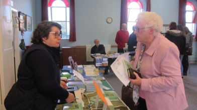 Always lovely to meet readers. Image taken by Janet Williams, editor of Chandler's Ford Today