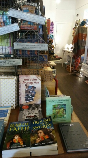 My book on sale in a local gift shop. Image taken by Allison Symes