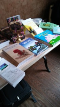 Wonderful range of books on display and yes mine is on there so I AM biased! Image by Allison Symes