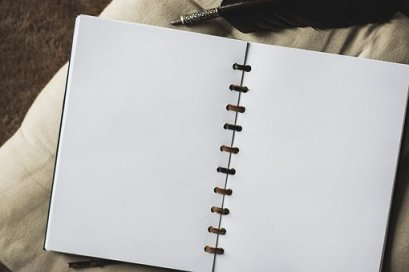 A blank page can take you anywhere in writing. Image via Pixabay.
