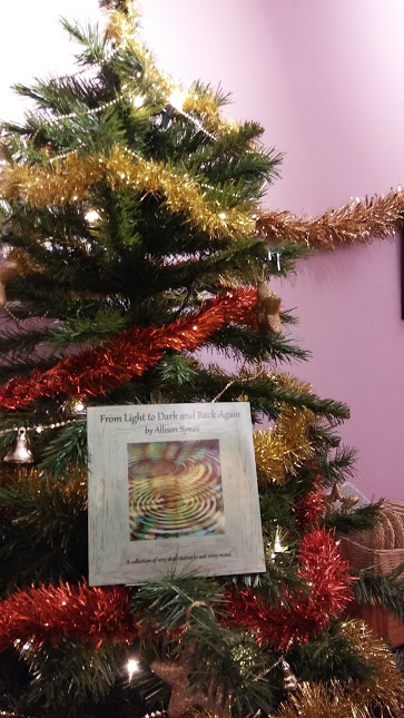 My book on our Christmas Tree as part of Paula Readman's wonderful For Writers Only Who Want to Write without Fear of Rejection Facebook page. Image by Allison Symes