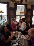 Gill talks with Dawn Kentish Knox and me. Image thanks to Paula Readman.