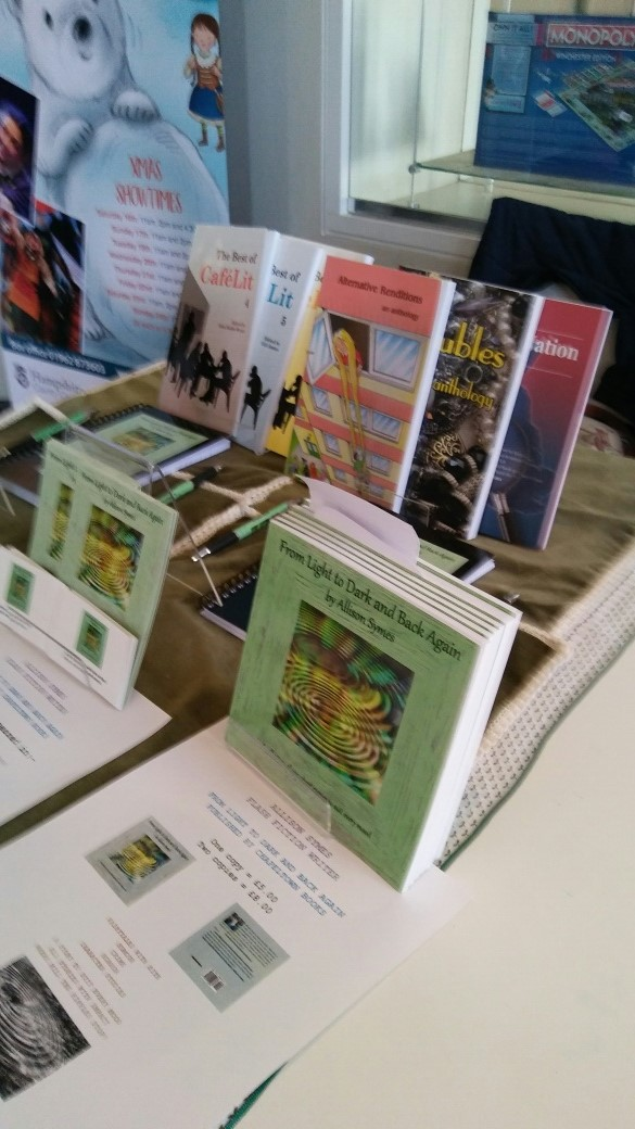 My book stand at the Discovery Centre