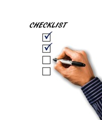 A checklist can be useful for quizzing your characters. Image via Pixabay.