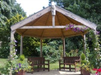 The arbour at Swanwick. Image by Allison Symes