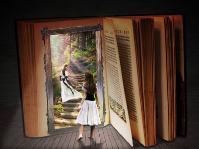 Books invite you into their world. Image via Pixabay.