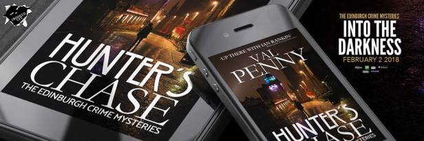 Val Penny's Hunter's Chase is on Kindle and in paperback. Image kindly supplied by Val Penny.