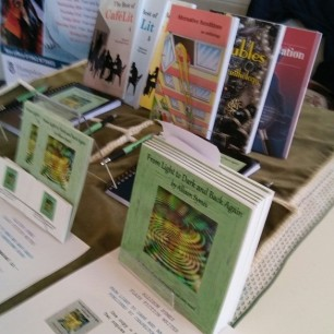 My stand at the Winchester discovery Centre event. Image by Allison Symes