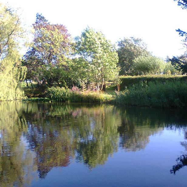 Again from Swanwick. Literally a place to reflect! Image via Allison Symes