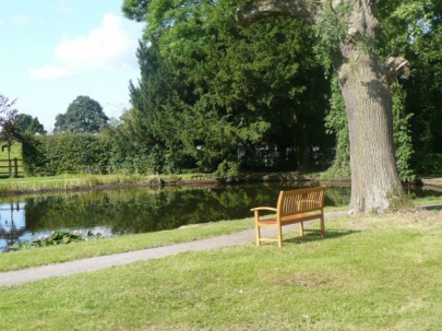 The lake at The Hayes, home of the Swanwick Writers' Summer School. Image taken by Val Penny.
