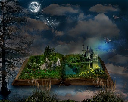 The wonderful world of stories. Image via Pixabay