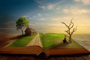 What new worlds and scenes will books show you? Image via Pixabay