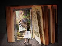 Books invite you into their world. Image via Pixabay.