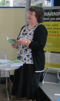My reading at the local railway station. Image by Janet Williams