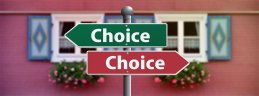 Decisions, decisions and a not terribly helpful signpost. Image via Pixabay.