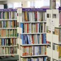 Library shelf. Image via Pexels
