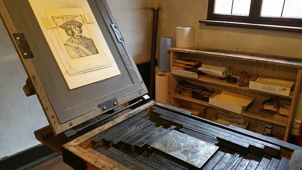 Printing Press - image via Pixabay