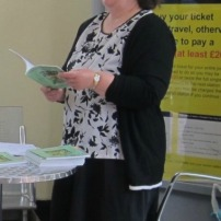 My reading from FLTDBA at our local railway station. Picture by Janet Williams